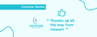 Thumbs Up Review Facebook cover