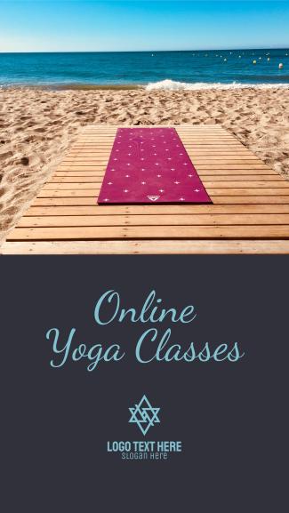 Online Yoga Facebook story