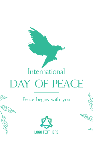 Day Of Peace Dove Facebook story