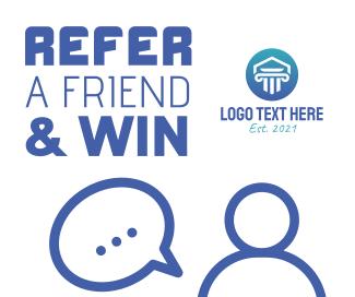 Refer a friend & win Facebook post