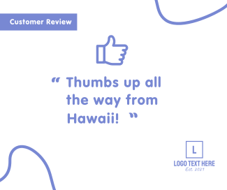 Thumbs Up Review Facebook post