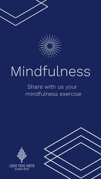 Mindfulness Exercise Facebook story