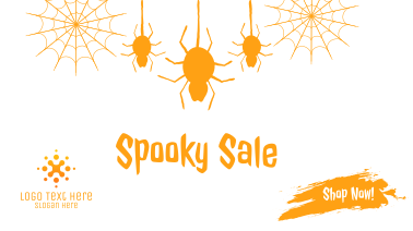 Spider Spooky Sale Facebook event cover