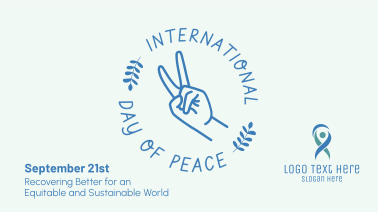 Peace Hand Sign Facebook event cover