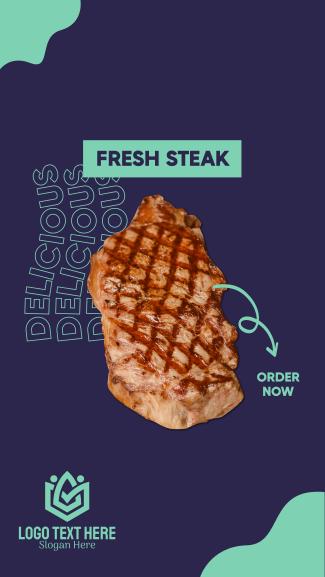 Fresh Steak Facebook story