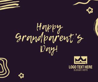 Happy Grandparents Scribble Facebook post