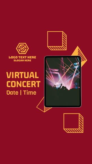 Virtual Concert Invitation Facebook story