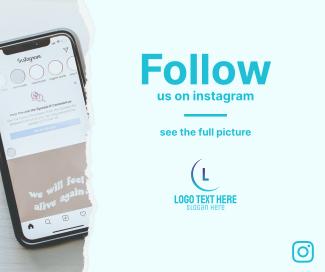 Follow Us On Instagram Facebook post