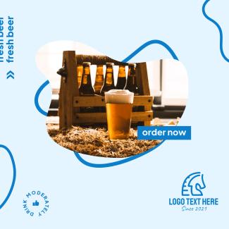 Fresh Beer Order Now Instagram post