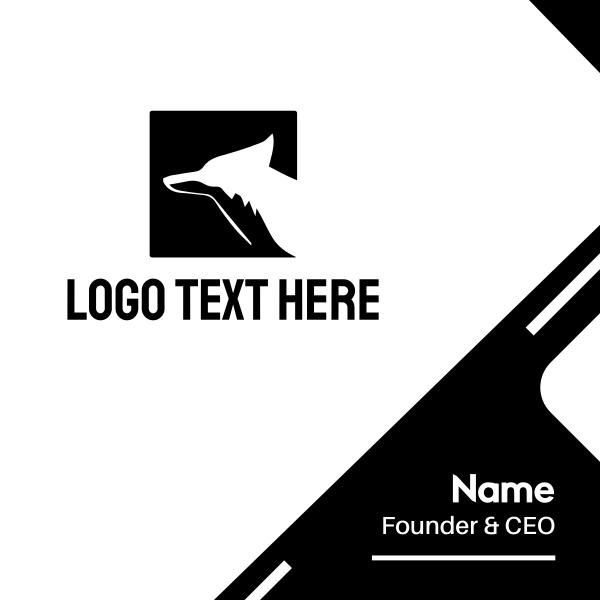 Square Fox Silhouette Business Card