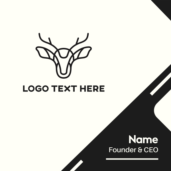 Abstract Deer Business Card