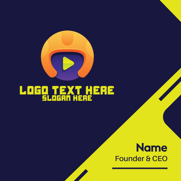 Youtube Sports Player Business Card