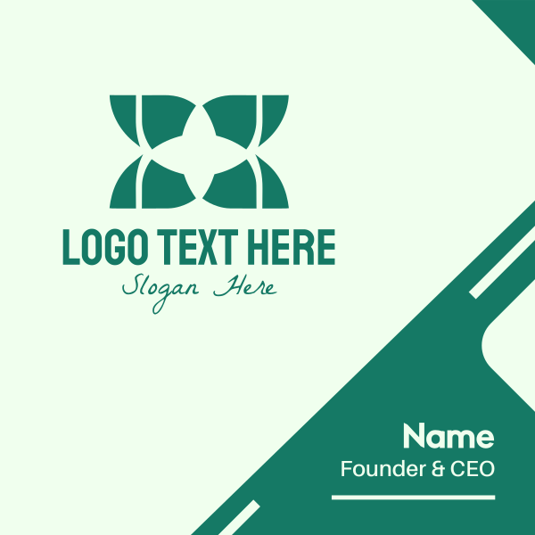 Green Eco Star Business Card
