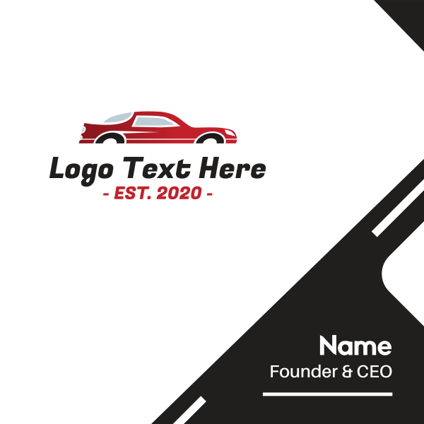 Red Fast Automotive Car Business Card