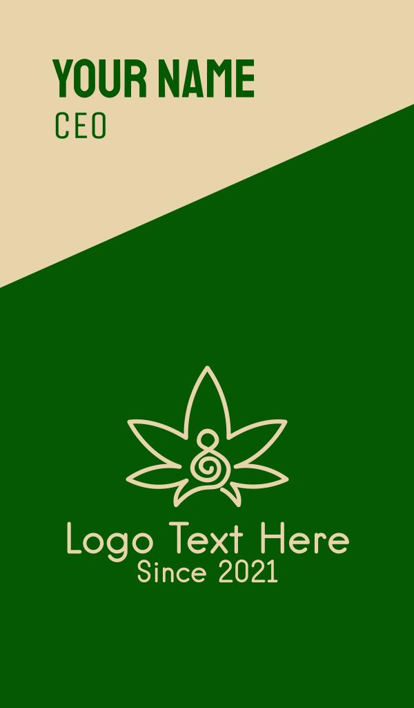 Marijuana Musical Clef Business Card