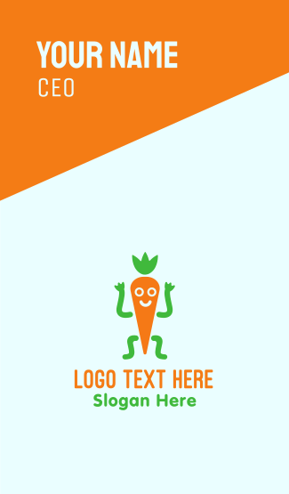Happy Carrot Business Card