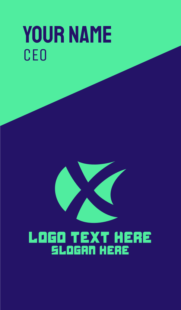 X Shield Gaming Business Card