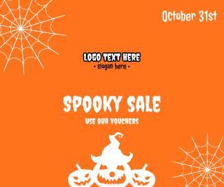 Halloween Spooky Sale  Facebook post