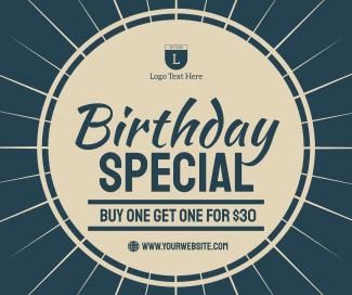 Birthday Facebook post