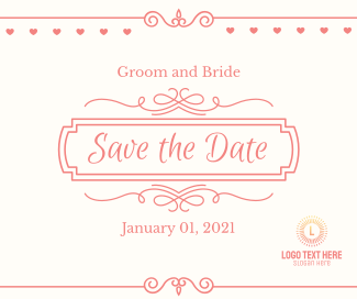 Wedding Save the Date Facebook post