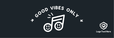 Good Vibes Happy Note Twitter header (cover)