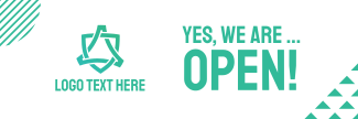 We're Open Business Twitter header (cover)