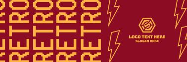 Retro Pixel Twitter header (cover)