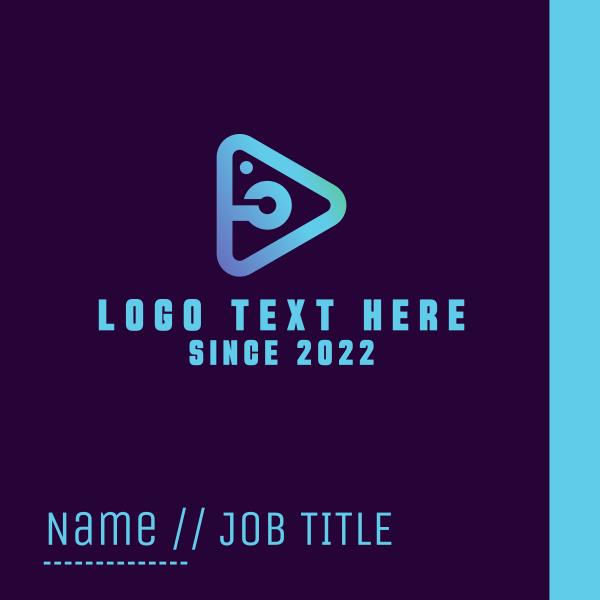 Light Blue Photo Play Business Card