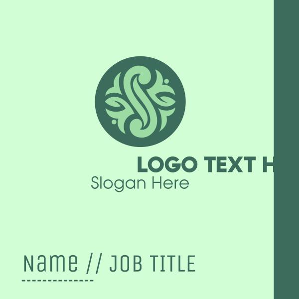 Green Beauty Spa Emblem Business Card