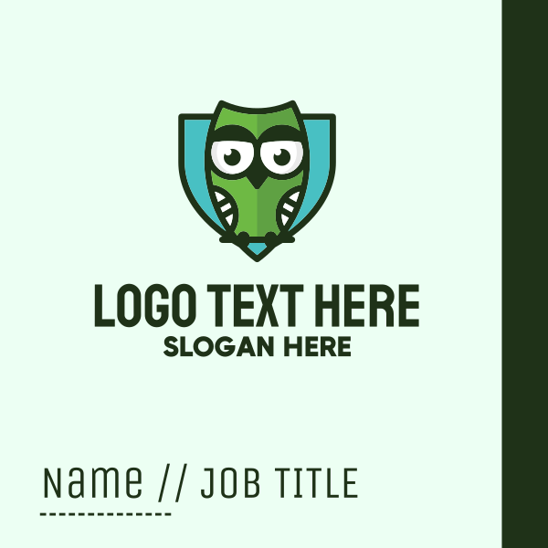 Owl Shield Security Business Card