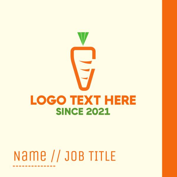 Minimalist Carrot Business Card