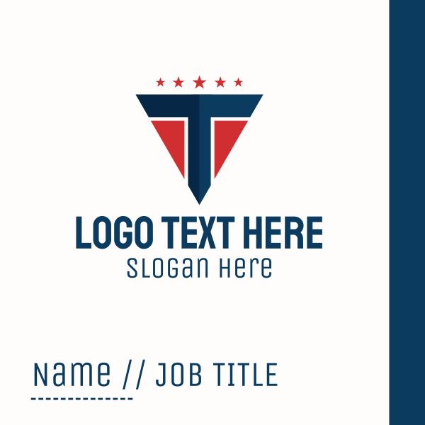 Patriotic Letter T Business Card