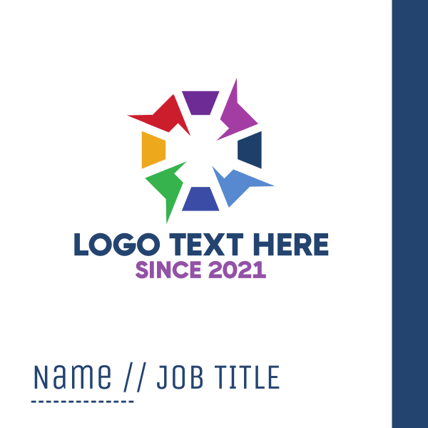 Electric  Hexagon Business Card