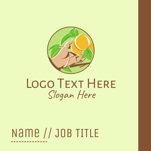 Organic Peach Tree Business Card