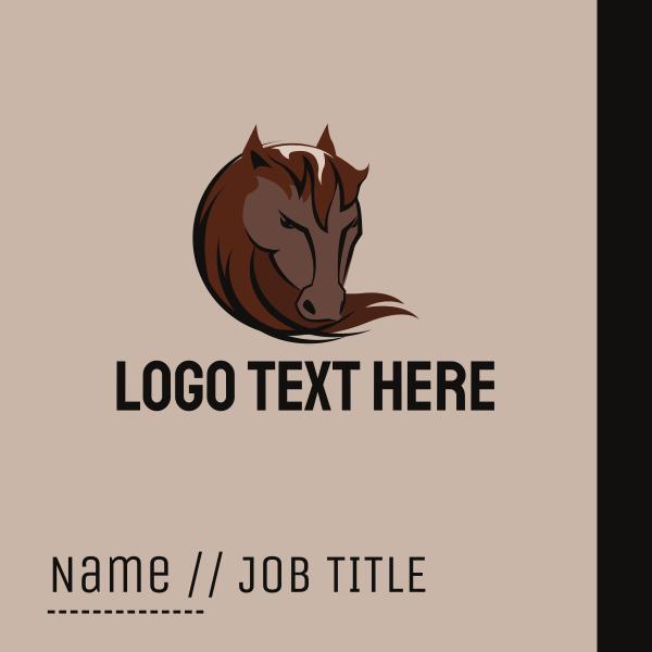 Wild Horse Head Business Card