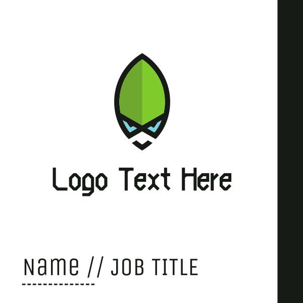 Green Alien Business Card