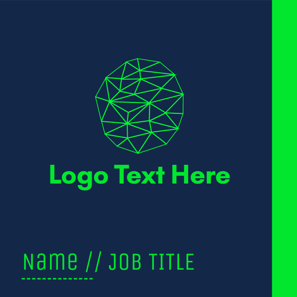 Fluorescent Green Connections Business Card