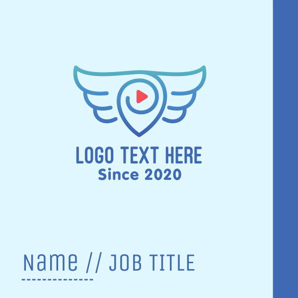 Destination Pin Wings Business Card