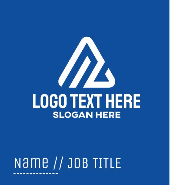 White Triangle Peak Business Card
