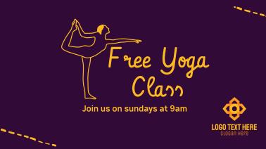 Free Yoga Class Facebook event cover