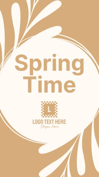Spring Time Facebook story