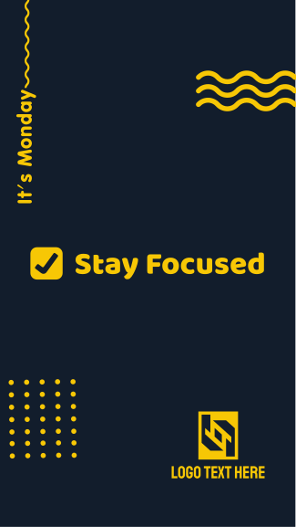 Monday Stay Focused Facebook story