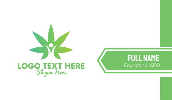 medical cannabis - Marijuana Leaf User Business card horizontal design