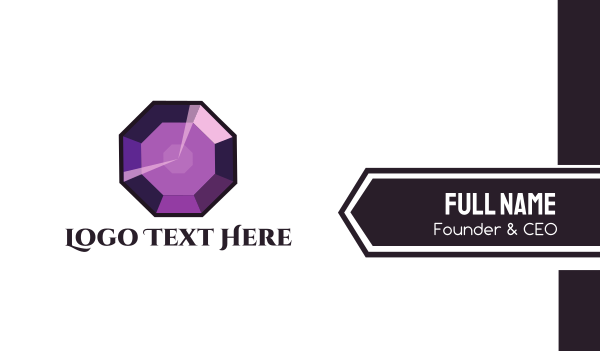 crystal - Purple Gem Business card horizontal design