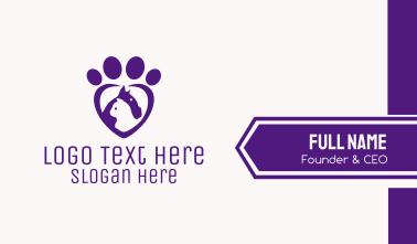 Purple Paw Veterinary  Business Card