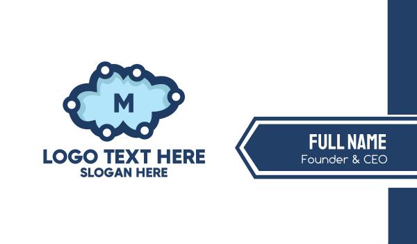 webhosting - Cloud Technology Lettermark Business card horizontal design