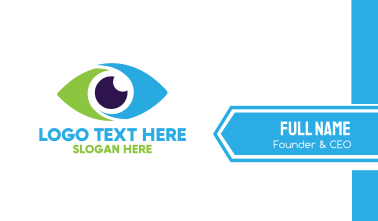 Optical Eye Vision Optometrist Business Card