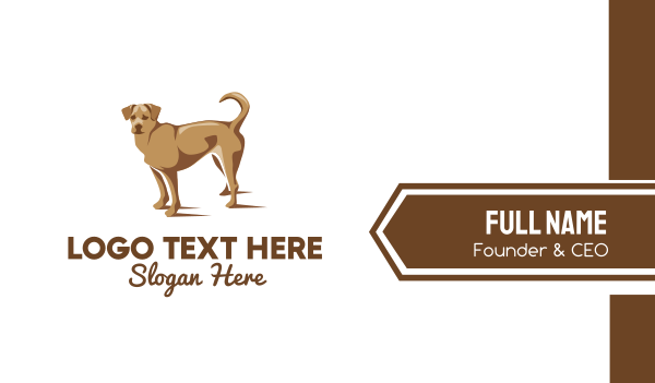 dog walker - Brown Pet Dog Business card horizontal design