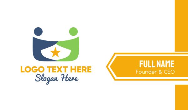 foundations - Star & Couple Business card horizontal design