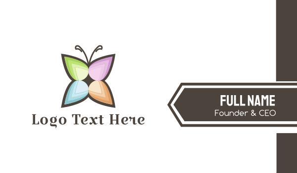 butterfly - Flower Butterfly Business card horizontal design